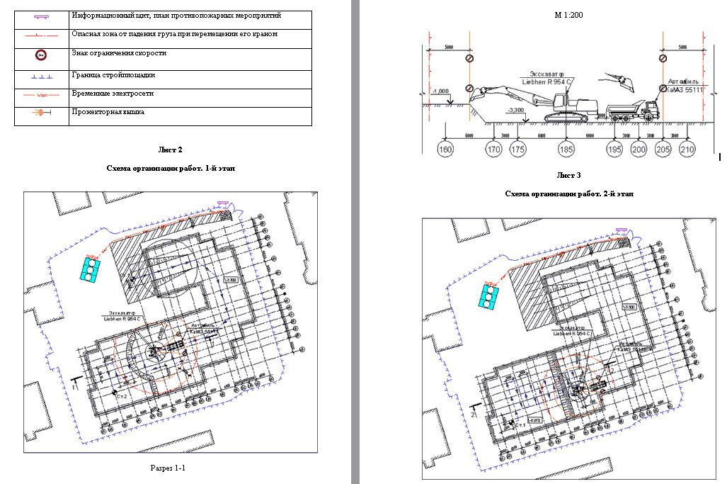 30440. Проект производства работ (ППР). Подземная часть здания. Демонтаж. Указания к производству работ